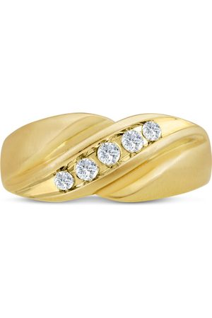 SuperJeweler Men's 1/3 Carat Diamond Wedding Band in 14K , I-J-K, I1-I2, 9.61mm Wide