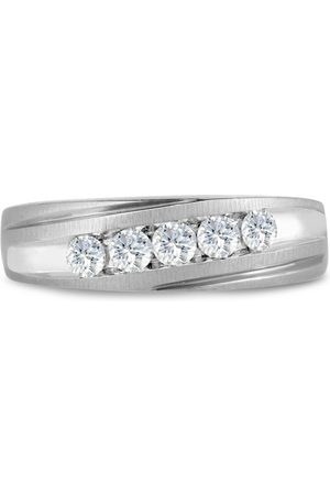 SuperJeweler Men's 1/2 Carat Diamond Wedding Band in 10K , G-H, I2-I3, 6.67mm Wide