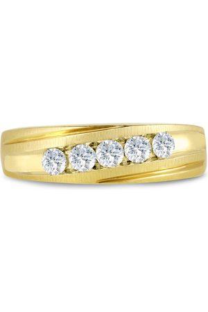 SuperJeweler Men's 1/2 Carat Diamond Wedding Band in 10K , I-J-K, I1-I2, 6.67mm Wide