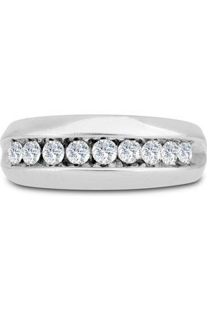 SuperJeweler Men's 1 Carat Diamond Wedding Band in 10K , I-J-K, I1-I2, 8.42mm Wide