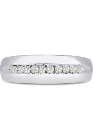 SuperJeweler Men's 1/4 Carat Diamond Wedding Band in 14K , I-J-K, I1-I2, 6.93mm Wide