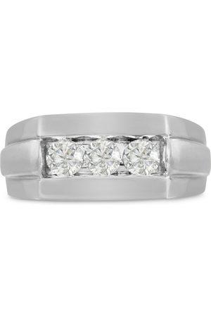 SuperJeweler Men's 3/4 Carat Diamond Wedding Band in 10K , G-H, I2-I3, 9.57mm Wide