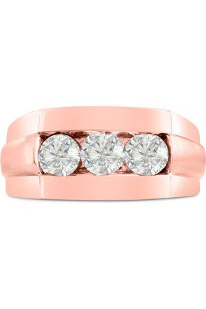 SuperJeweler Men Rings - Men's 1 Carat Diamond Wedding Band in 14K Rose , G-H, I2-I3, 10.61mm Wide