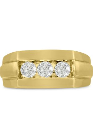 SuperJeweler Men's 3/4 Carat Diamond Wedding Band in 14K , G-H, I2-I3, 9.57mm Wide