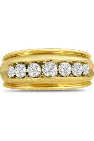 SuperJeweler Men's 1 Carat Diamond Wedding Band in 10K , G-H, I2-I3, 10.41mm Wide