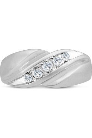 SuperJeweler Men's 1/3 Carat Diamond Wedding Band in 14K , G-H, I2-I3, 9.61mm Wide
