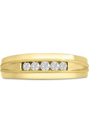 SuperJeweler Men's 1/5 Carat Diamond Wedding Band in 10K , G-H, I2-I3, 6.68mm Wide