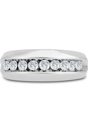 SuperJeweler Men's 1 Carat Diamond Wedding Band in 14K , I-J-K, I1-I2, 8.42mm Wide