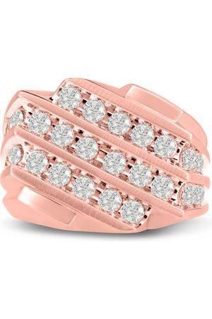 SuperJeweler Men's 1.25 Carat Diamond Wedding Band in 10K Rose , I-J-K, I1-I2, 16.76mm Wide