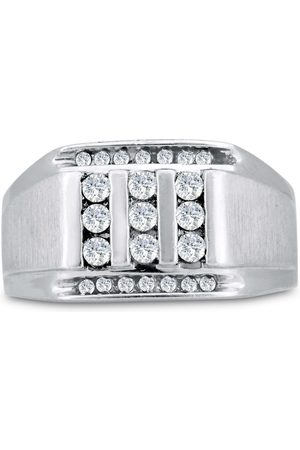 SuperJeweler Men's 1/2 Carat Diamond Wedding Band in 10K , G-H, I2-I3, 12.63mm Wide