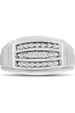 SuperJeweler Men's 1/4 Carat Diamond Wedding Band in 14K , I-J-K, I1-I2, 11.24mm Wide