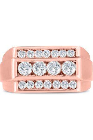 SuperJeweler Men's 1 Carat Diamond Wedding Band in 14K Rose , G-H, I2-I3, 11.06mm Wide