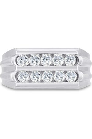 SuperJeweler Men's 1 Carat Diamond Wedding Band in 14K , G-H, I2-I3, 10.48mm Wide