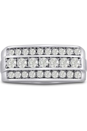 SuperJeweler Men's 1 Carat Diamond Wedding Band in 14K , G-H, I2-I3, 10.03mm Wide