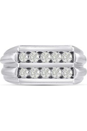 SuperJeweler Men's 1 Carat Diamond Wedding Band in 14K , I-J-K, I1-I2, 11.17mm Wide