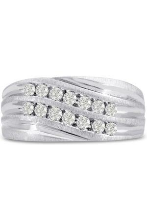 SuperJeweler Men's 1/2 Carat Diamond Wedding Band in 10K , I-J-K, I1-I2, 10.13mm Wide