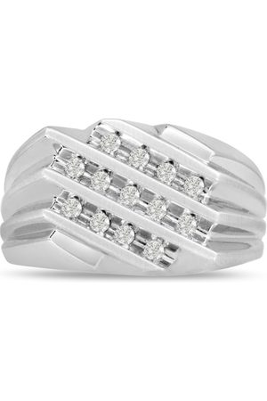 SuperJeweler Men's 1/2 Carat Diamond Wedding Band in 14K , I-J-K, I1-I2, 11.87mm Wide