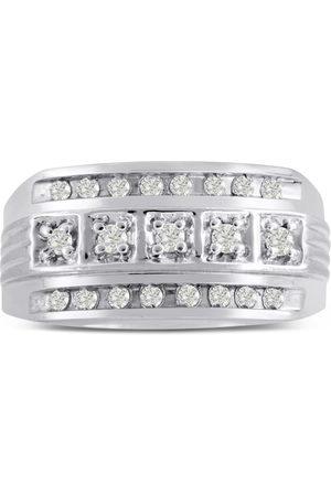 SuperJeweler Men's 4/10 Carat Diamond Wedding Band in 10K , I-J-K, I1-I2, 11.03mm Wide