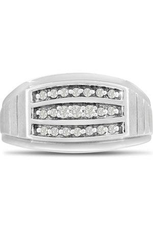 SuperJeweler Men's 1/4 Carat Diamond Wedding Band in 14K , G-H, I2-I3, 11.24mm Wide