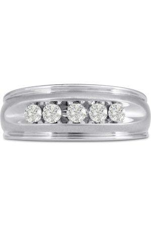 SuperJeweler Men's 1/2 Carat Diamond Wedding Band in 10K , G-H, I2-I3, 8.68mm Wide