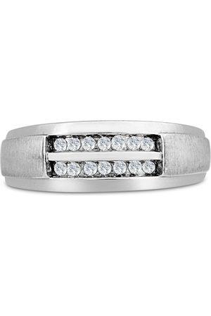 SuperJeweler Men's 1/4 Carat Diamond Wedding Band in 14K , G-H, I2-I3, 7.83mm Wide