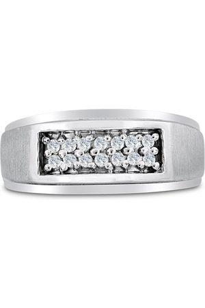 SuperJeweler Men's 1/4 Carat Diamond Wedding Band in 10K , I-J-K, I1-I2, 9.52mm Wide