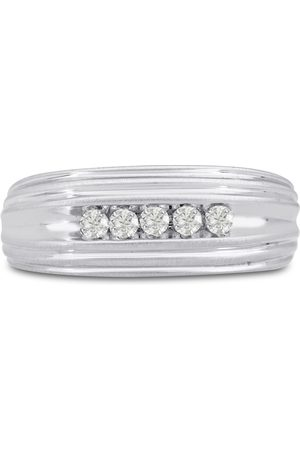 SuperJeweler Men's 1/4 Carat Diamond Wedding Band in 10K , I-J-K, I1-I2, 8.36mm Wide