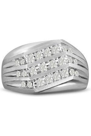 SuperJeweler Men's 1 Carat Diamond Wedding Band in 10K , G-H, I2-I3, 13.64mm Wide