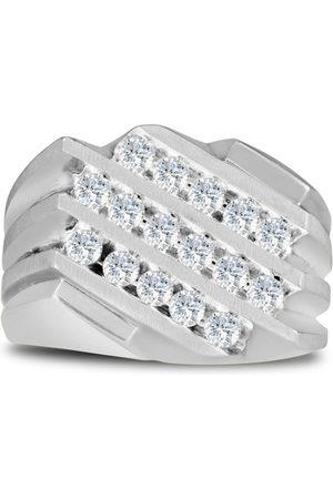 SuperJeweler Men's 1 Carat Diamond Wedding Band in 10K , G-H, I2-I3, 15.95mm Wide