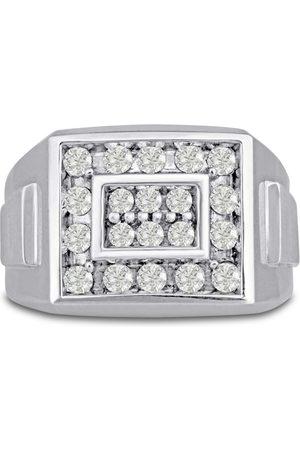SuperJeweler Men's 1 Carat Diamond Wedding Band in 14K , G-H, I2-I3, 14.78mm Wide