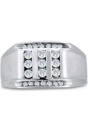 SuperJeweler Men's 1/2 Carat Diamond Wedding Band in 10K , I-J-K, I1-I2, 12.63mm Wide