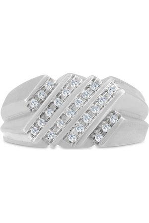 SuperJeweler Men's 1/2 Carat Diamond Wedding Band in 14K , G-H, I2-I3, 11.38mm Wide