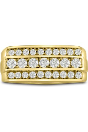 SuperJeweler Men's 1 Carat Diamond Wedding Band in 14K , I-J-K, I1-I2, 10.03mm Wide