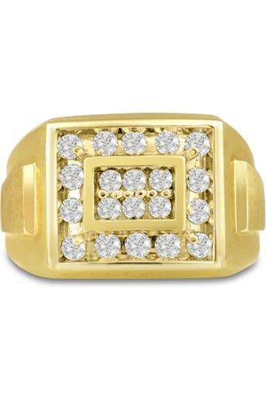 SuperJeweler Men's 1 Carat Diamond Wedding Band in 10K , G-H, I2-I3, 14.66mm Wide