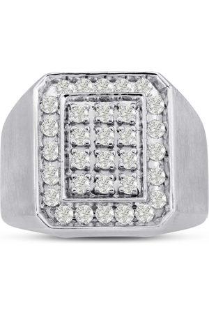 SuperJeweler Men's 1 Carat Diamond Wedding Band in 10K , G-H, I2-I3, 17.75mm Wide