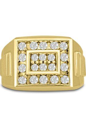 SuperJeweler Men's 1 Carat Diamond Wedding Band in 14K , I-J-K, I1-I2, 14.78mm Wide
