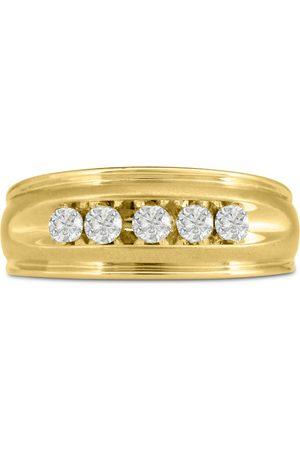 SuperJeweler Men's 1/2 Carat Diamond Wedding Band in 10K , I-J-K, I1-I2, 8.68mm Wide