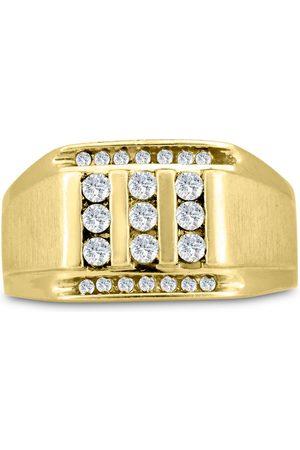SuperJeweler Men's 1/2 Carat Diamond Wedding Band in 14K , G-H, I2-I3, 12.63mm Wide