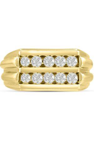 SuperJeweler Men's 1 Carat Diamond Wedding Band in 14K , G-H, I2-I3, 11.17mm Wide
