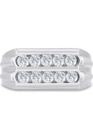 SuperJeweler Men's 1 Carat Diamond Wedding Band in 10K , G-H, I2-I3, 10.48mm Wide
