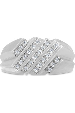 SuperJeweler Men's 1/2 Carat Diamond Wedding Band in 10K , I-J-K, I1-I2, 11.38mm Wide
