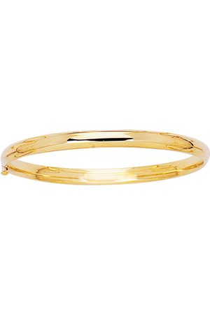 SuperJeweler 14K (3.3 g) 5.5mm 5.50 Inch Children's All Shiny Bangle Bracelet