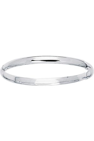 SuperJeweler 14K (3.1 g) 5.5mm 5.50 Inch Children's All Shiny Bangle Bracelet