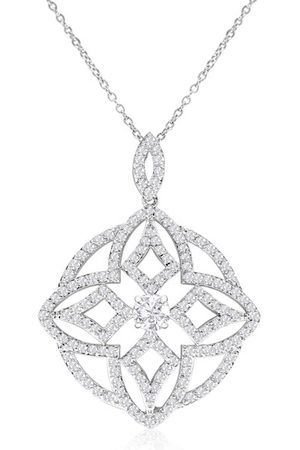 Hansa 18kw 4 Carat Diamond Pendant Necklace on Cable Chain, H/I by