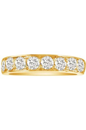 SuperJeweler 1/2 Carat Prong Set Diamond Wedding Band in 10k , 9 Diamonds, J/K