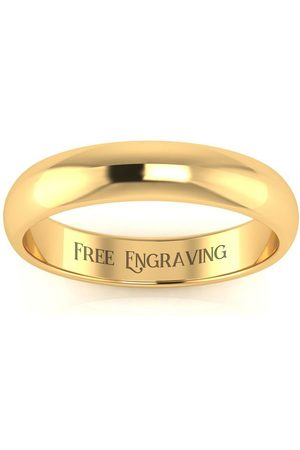SuperJeweler 14K (3.7 g) 4MM Comfort Fit Ladies & Men's Wedding Band, Size 5, Free Engraving