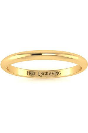 SuperJeweler 18K (1.7 g) 2MM Comfort Fit Ladies & Men's Wedding Band, Size 3, Free Engraving
