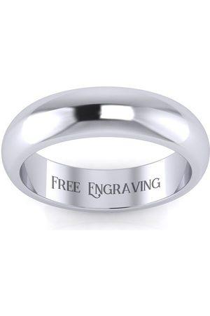 SuperJeweler Men Rings - Platinum 5MM Comfort Fit Ladies & Men's Wedding Band, Size 10.5, Free Engraving