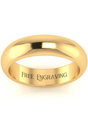 SuperJeweler Men Rings - 18K (6.4 g) 5MM Comfort Fit Ladies & Men's Wedding Band, Size 10, Free Engraving