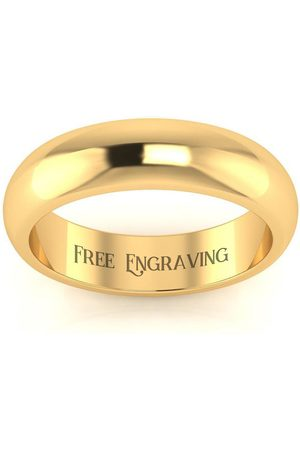 SuperJeweler 18K (6.3 g) 5MM Comfort Fit Ladies & Men's Wedding Band, Size 8.5, Free Engraving